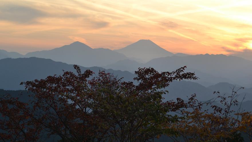 Desde la cima del Monte Takao puede verse la silueta del imponente Fujiyama. Daniel Rubio