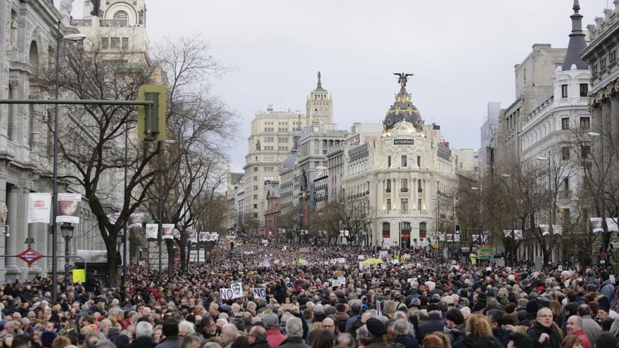 Manifestación en Madrid por la libertad de expresión