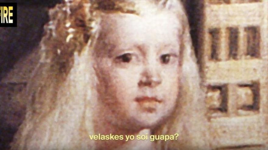 "Un fragmento de 'Las Meninas: Trap Remix' con la ya icónica frase de ""Velaskes  yo soi guapa?"""