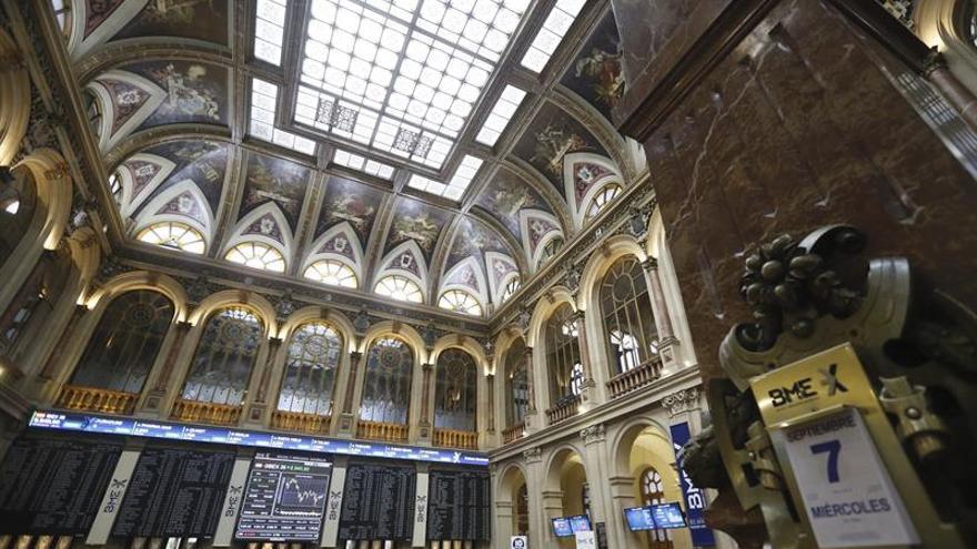 La Bolsa española cae el 0,14 por ciento y pierde los 9.100 puntos