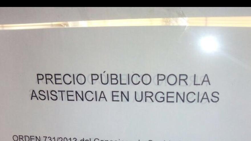 """El hospital público Gregorio Marañón colgó los """"precios"""" de asistir a personas sin tarjeta sanitaria"""
