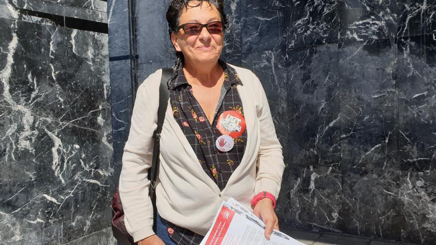 Lupe Parrilla es secretaria general insular de UGT.