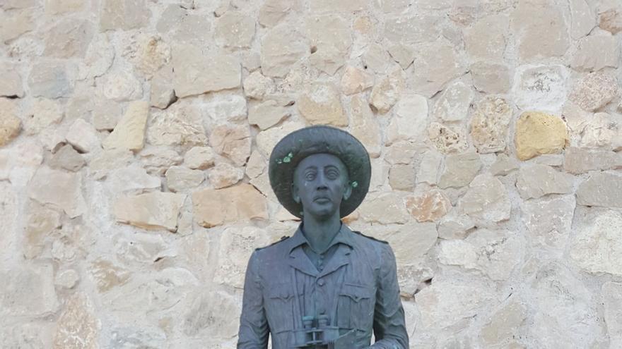 Estatua de Franco que se conserva en Melilla