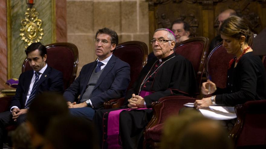 Feijóo, participando en un acto de la Semana Santa de Ferrol