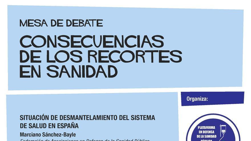 Mesa de debate por la sanidad pública en Toledo