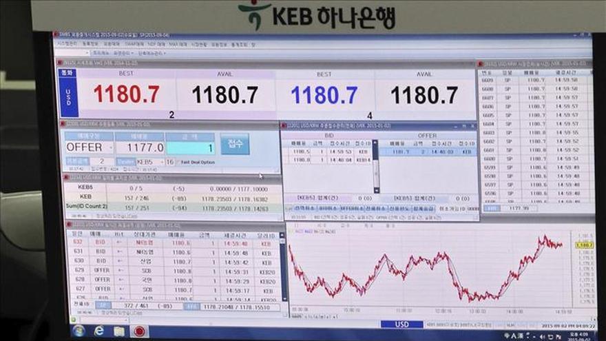 El Kospi surcoreano baja un 0,83 por ciento hasta los 1.918,15 puntos
