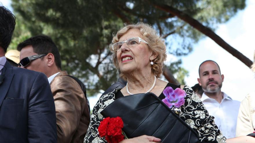Manuela Carmena en la Pradera de San Isidro.