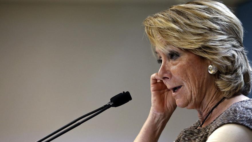 La expresidenta del PP de Madrid, Esperanza Aguirre.