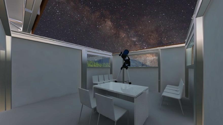 En la imagen, recreación interior de la caseta realizada por técnicos de la Consejería de Turismo.
