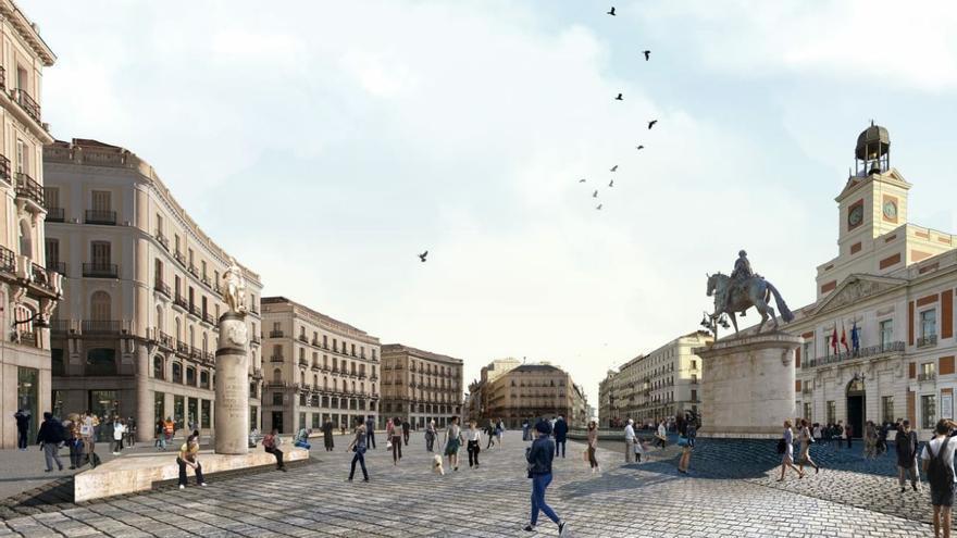 Proyecto para peatonalizar y reorganizar la Puerta del Sol. / Piensa Sol