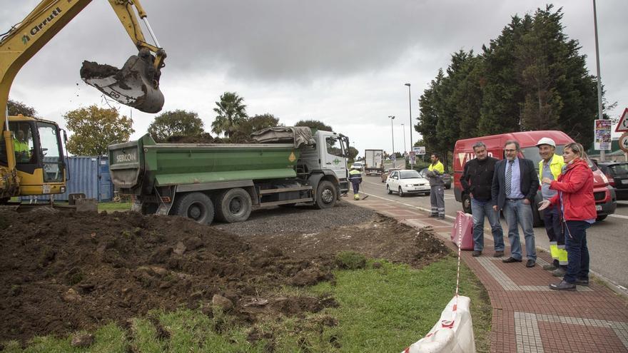 Comienzan las obras de la nueva glorieta que hará más fluido el tráfico entre Alday y Cros