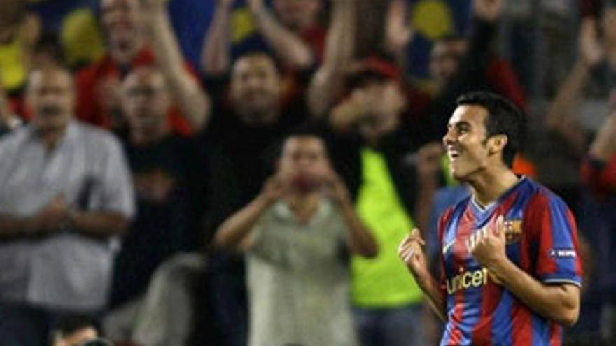 Pedro, una de las bazas ofensivas del Barça de Guardiola. (REUTERS)