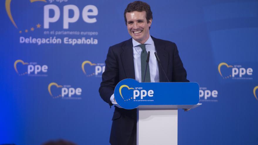 El presidente del PP, Pablo Casado, participa en el acto 'En Andalucía empieza Europa'