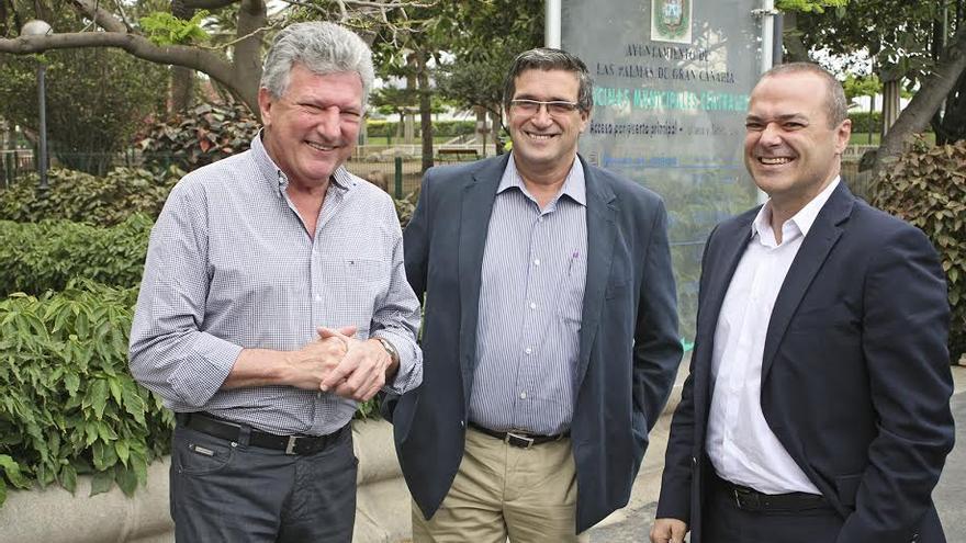 Pedro Quevedo, Javier Doreste y Augusto Hidalgo. (ALEJANDRO RAMOS)