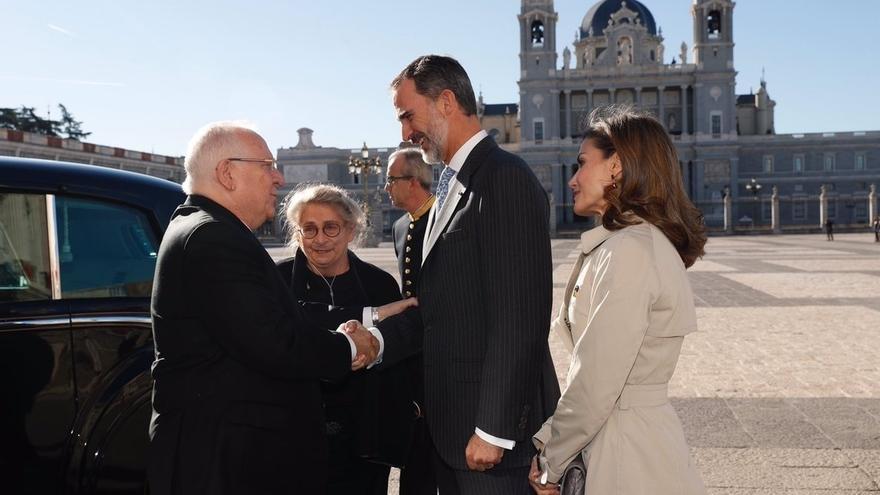 """El presidente israelí, tras aterrizar el domingo en Madrid: """"¡Viva España!"""""""
