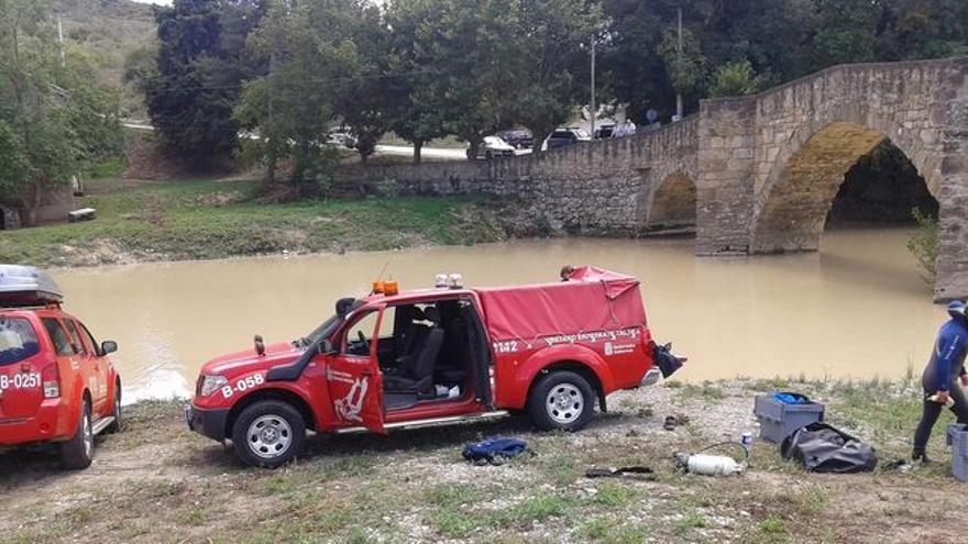 Un rescate de miembros de la Agencia Navarra de Emergencias.