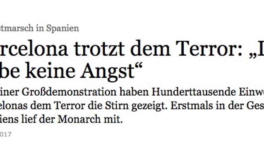 Publicación en Frankfurter Algemeine