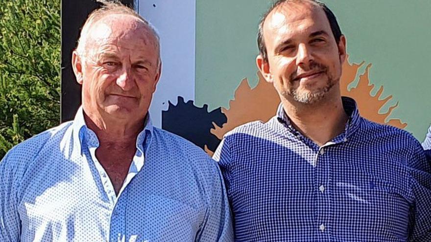 Narciso Arranz, a la izquierda, junto a Pablo Bellido