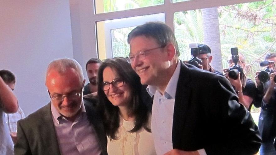 """Puig, Oltra y Montiel cierran el """"qué"""" de la Generalitat valenciana y confían en alcanzar pronto el """"quién"""""""