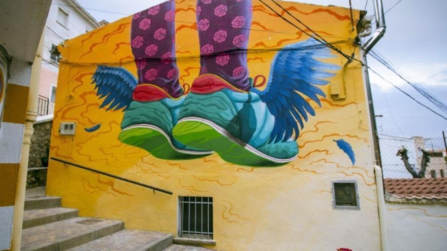 Imagen de archivo del 'Muro Crítico' / Creación de Moisés Vargas- Diputación de Cáceres