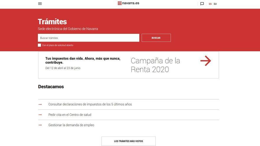 El nuevo catálogo de trámites del Gobierno de Navarra permite suscribirse para recibir las novedades por correo electrónico.