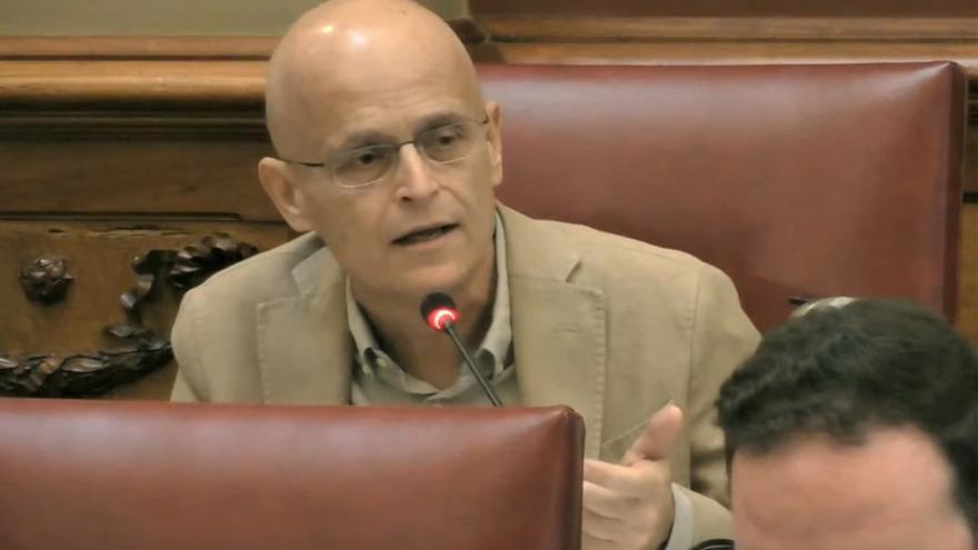 El portavoz de Unidas Podemos Ramón Trujillo.