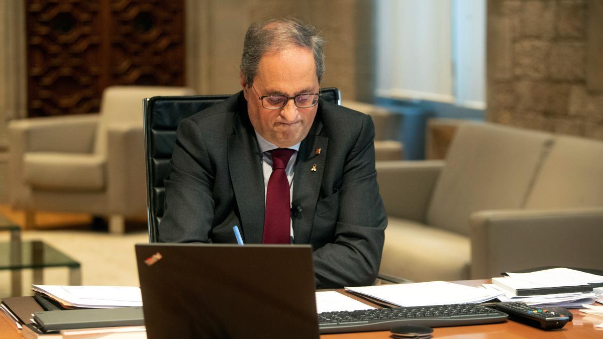El expresidente de la Generalitat Quim Torra. EFE/Marta Pérez/Archivo