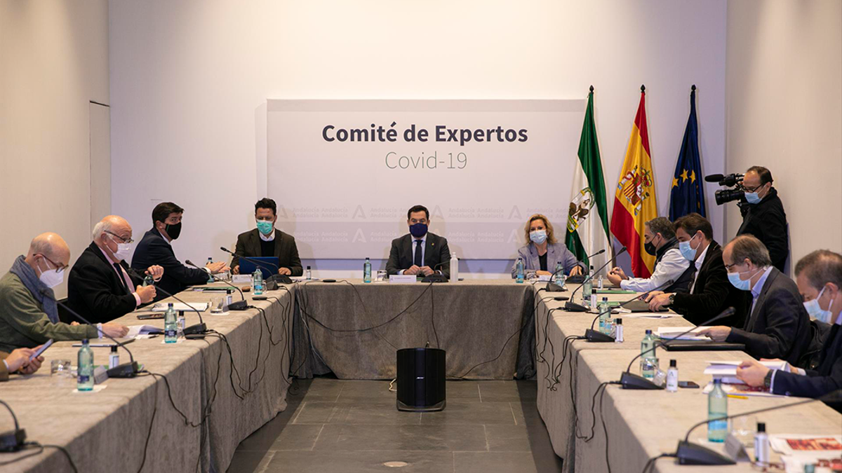 Reunión del comité de expertos sobre Covid en Andalucía.