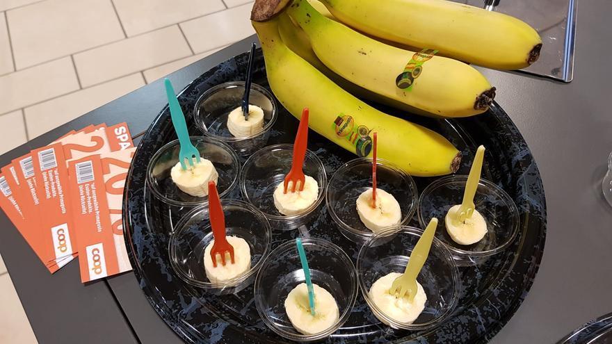 El plátano de Canarias da el salto al mercado suizo.
