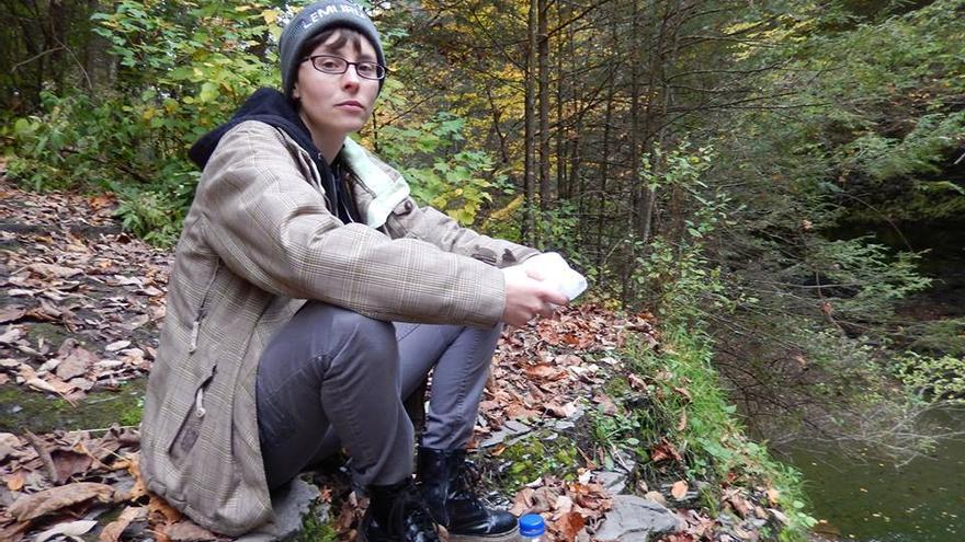 Amber Canavan, animalista encarcelada por liberar a dos patos de una granja de foie gras.