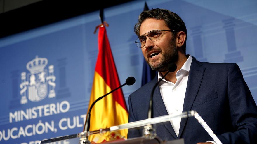 Máxim Huerta, el día de su dimisión como ministro de Cultura y Deporte