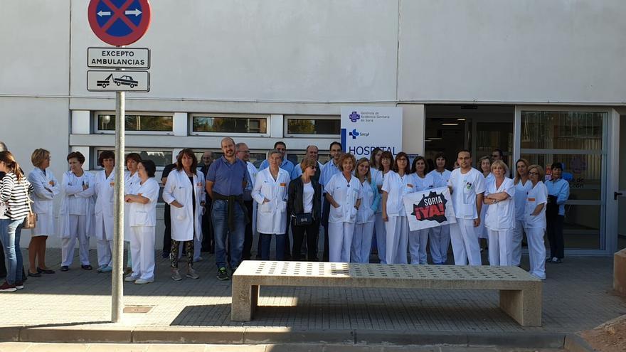 El personal médico del Hospital de Soria también se ha sumado a la protesta.