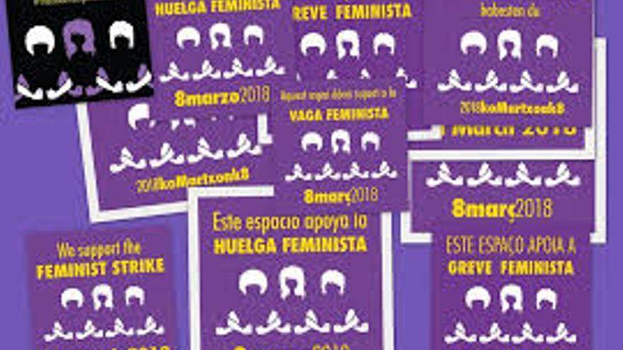 Carteles sobra la huelga feminista del 8 de marzo