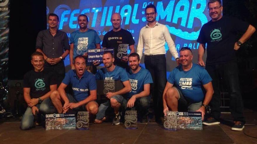Acto de clausura del Festival del Mar de La Palma con todos los premiados.