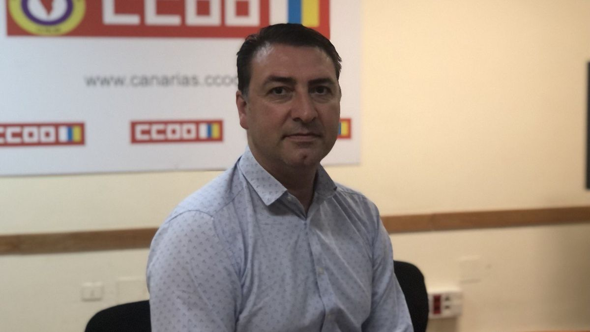 David del Río, secretario general de CCOO en La Palma.