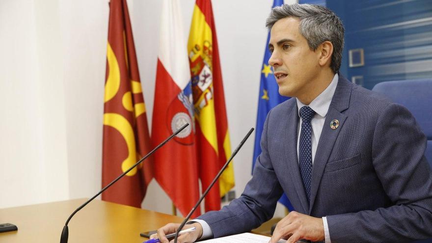 Pablo Zuloaga en la rueda de prensa posterior al Consejo de Gobierno.