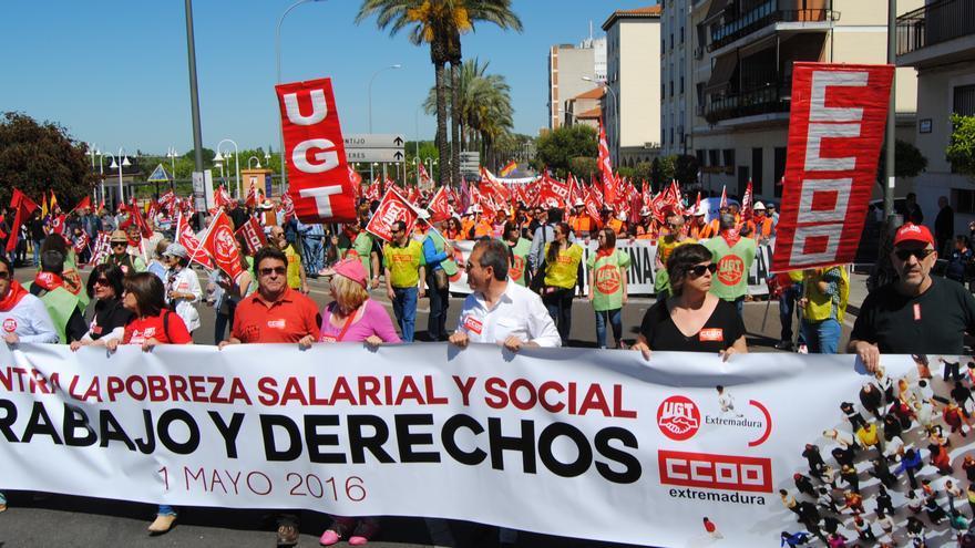 Manifestación del 1º de Mayo en Mérida / JCD