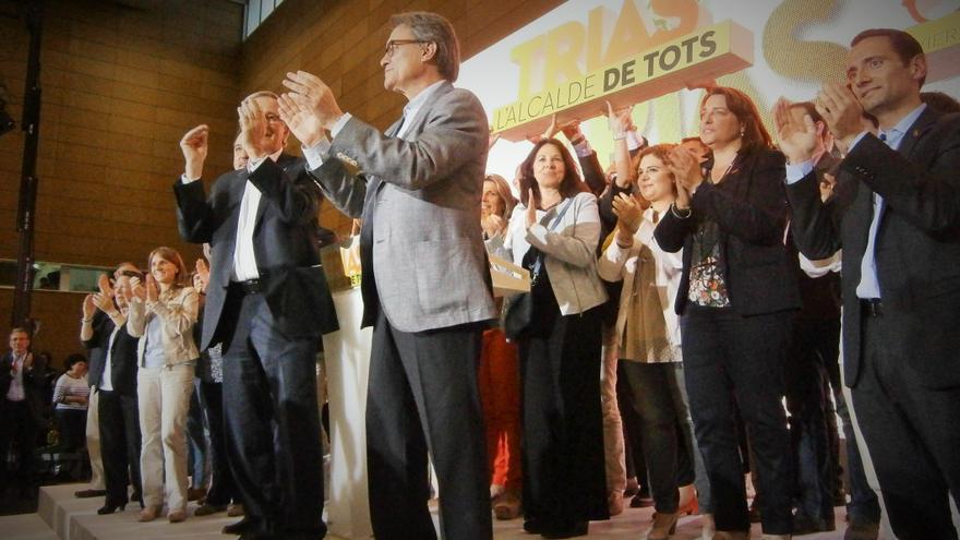 CiU carrega contra Colau en l'acte final de campanya a Barcelona / JORDI MOLINA