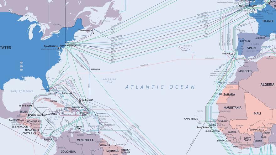 cables submarinos america y europa