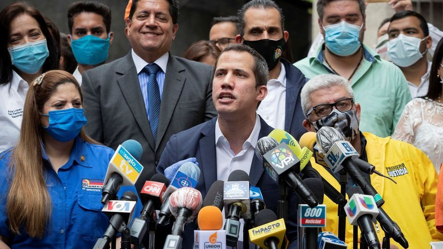 En la imagen el líder opositor Juan Guaidó.