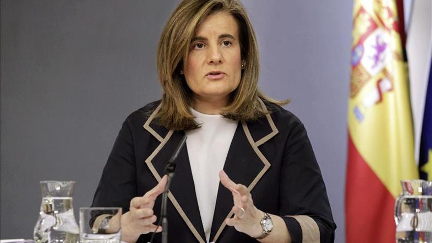 La ministra de Empleo, Fátima Bañez. EFE