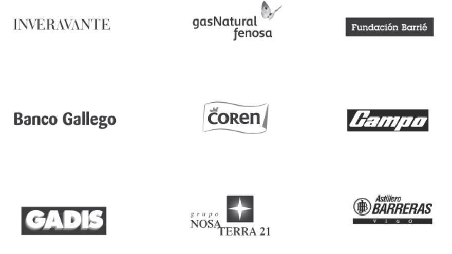 Logotipos de patronos de la Fundación Gaiás