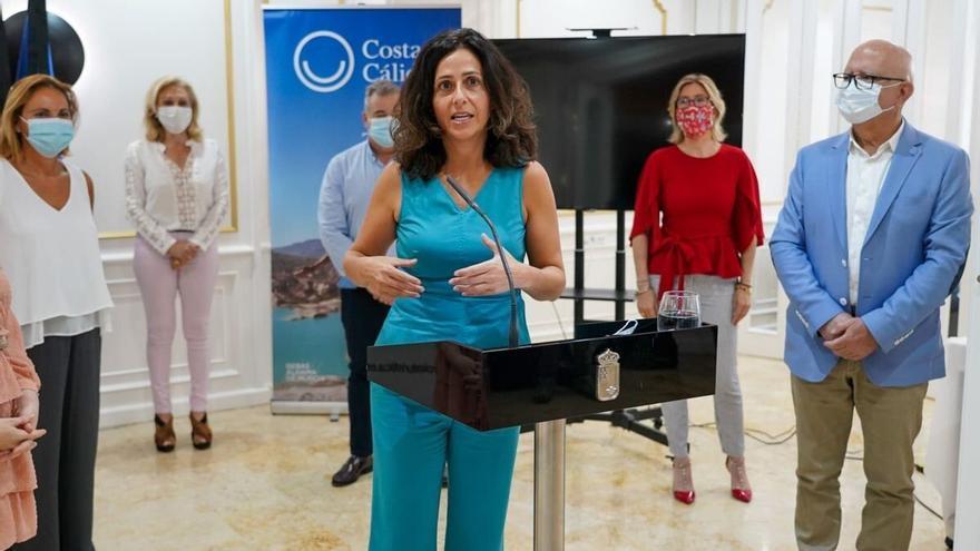 La consejera de Turismo, Cristina Sánchez, durante la presentación
