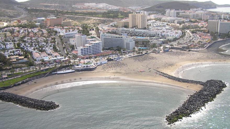 Playa de las Américas, en el sur de Tenerife