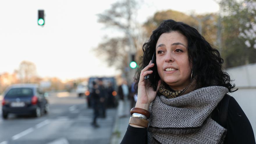 Natalia Munevar es refugiada colombiana y participa en la comisión migrante y antirracista del 8M.