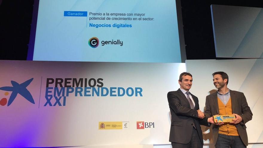 La empresa Genially recibe el premio Emprendedor XXI