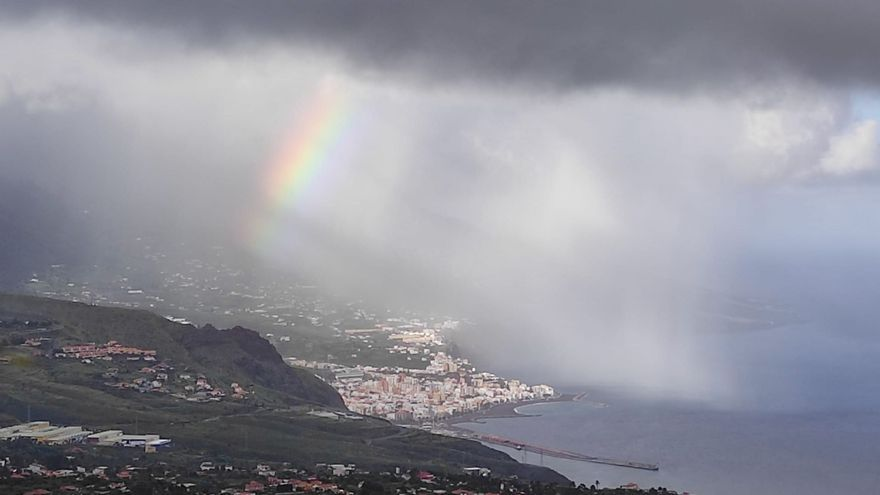 Lluvias débiles este domingo que pueden ser moderadas en el este y norte de La Palma