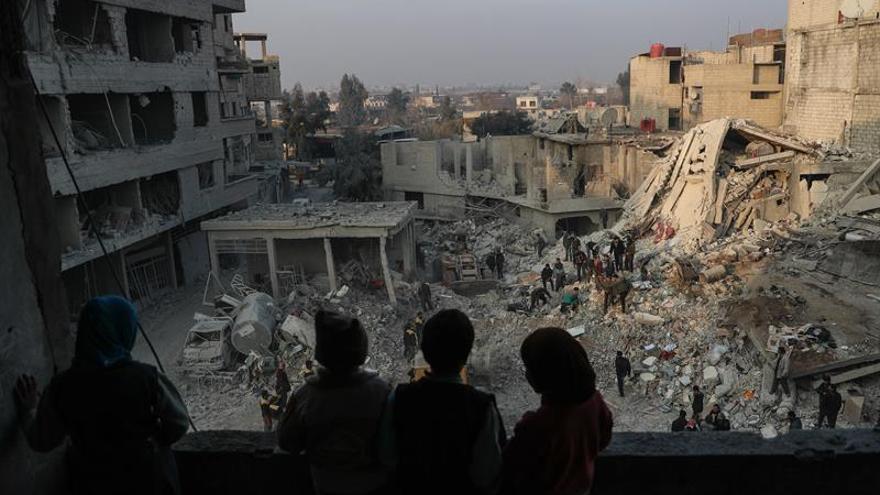 Bombardeos en la provincia siria de Idleb
