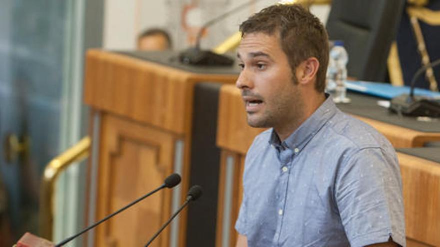 El portavoz de Compromís en la Diputación de Alicante, Gerard Fullana