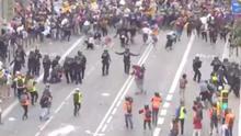 Un menor detenido en las protestas contra la sentencia del procés se querella contra la Policía Nacional por maltrato